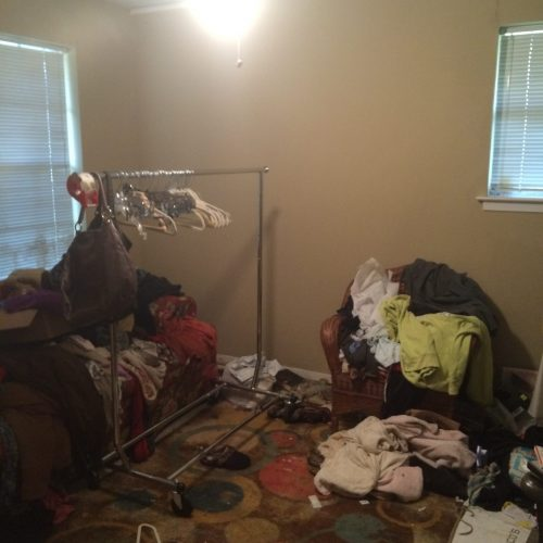 Arlington cat hoarder house bedroom before