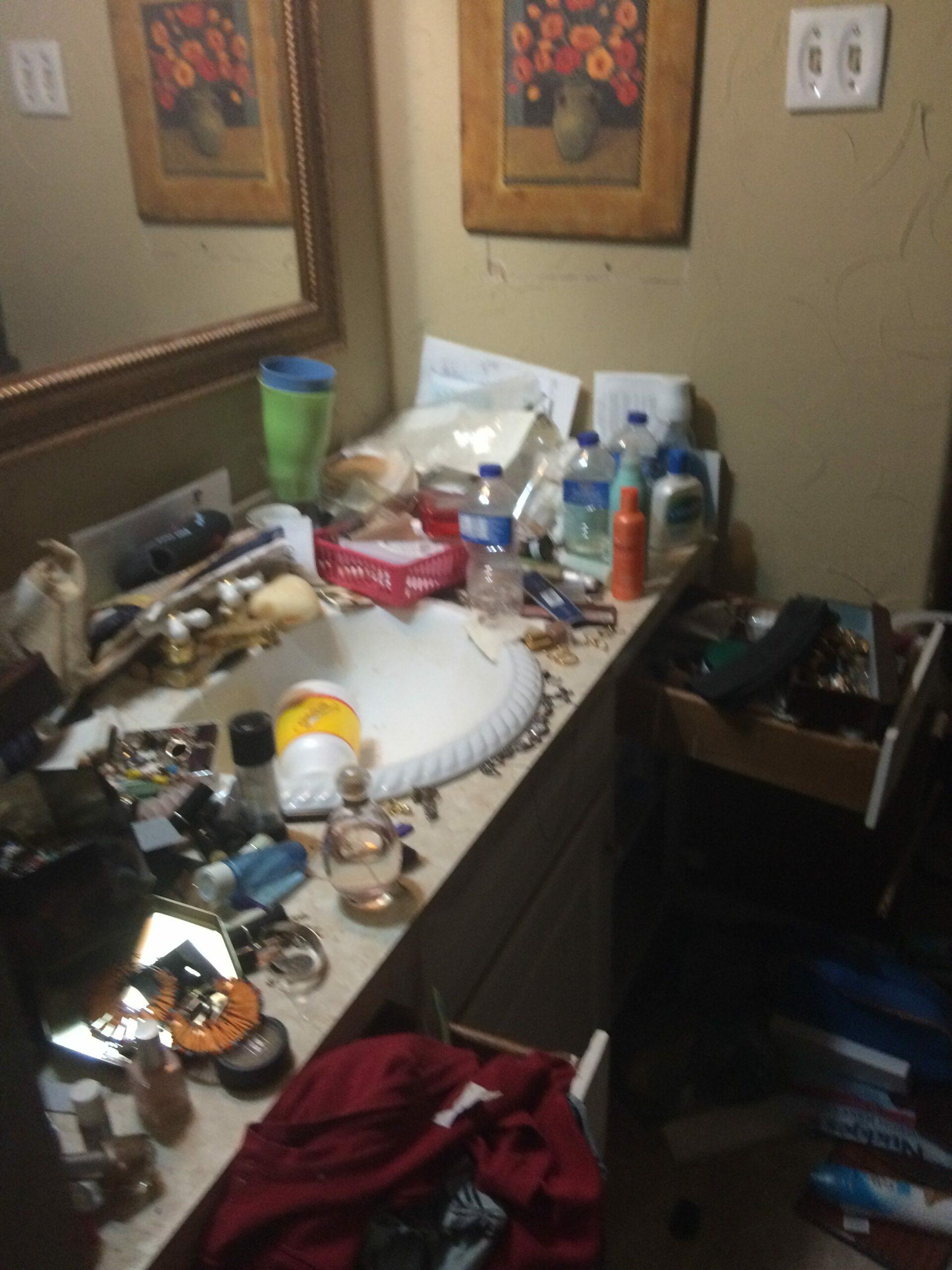 Arlington hoarder house bath vanity before